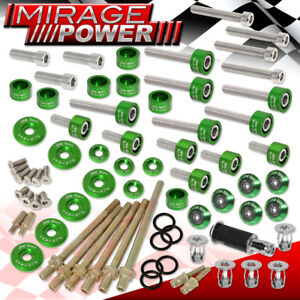 Jdm Acura K series 6mm Cup header cam Cap fender valve Cover Washers bolt Green