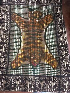 Vintage Chase Bear Rug Glass Eyes Horse Hair Buggy Carriage Sleigh Blanket Super