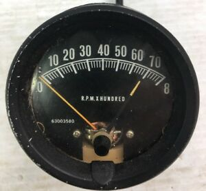 Vintage 0 8000 Rpm Tachometer Tach Old School Gasser Rat Rod Hot Rod 3 1 4
