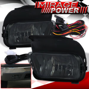 For 03 06 Silverado Avalanche Smoked Bumper Fog Light Lh Rh Assembly Switch