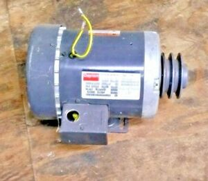 Dayton Electric Motor 6k123m With Browning Double Belt Pulley Sheeve