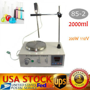 Magnetic Stirrer With Hotplate Digital Mixer Heating Plate Control 110v Fastship