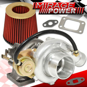 T3 T4 Turbo Charger Turbine Internal Wastegate High Flow Air Filter Gold Red