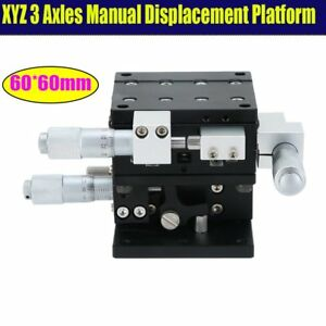 Xyz axis 60mmx60mm Stage Linear Ball Bars Precision Manual Displacement Platform