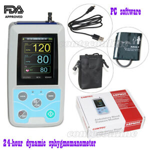 New 24 Hours Ambulatory Blood Pressure Monitor Nibp Holter Abpm50 Adult Cuff