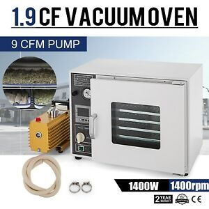 1 9 Cf Vacuum Drying Oven W Easyvac 9cfm Pump 5 sided 110v Ul csa Certified