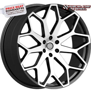 Elure 046 Black W Machined Face 26 x10 Custom Wheels Rims set Of 4
