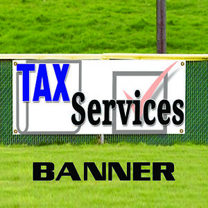 Tax Service Financial Governmental Promotional Outdoor Vinyl Banner Sign