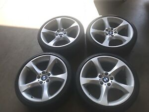 Set Of 4 Used 8x19 9x19 Bmw 335i Factory Wheels And Bridgestone Tires