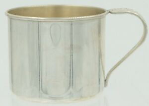 Vintage 1950 S Oneida Sterling Silver Baby Cup Engagement Pattern Mug W Handle