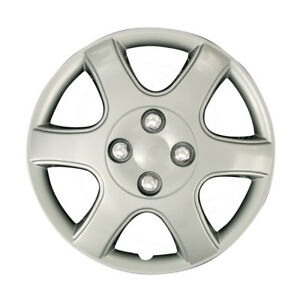 Fit 89 02 Mitsubishi Wheel Covers 4pcs 14 Silver Chrome Hubcaps Steel Hub Caps