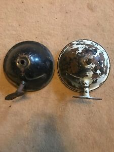 1926 Model T Ford Head Lights Lites X2 Buckets 26 Metal Is Solid Very Good