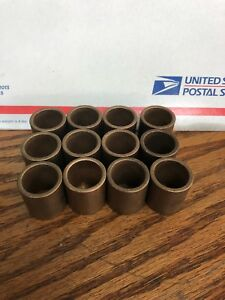 Oilite Bushing Bronze 3 4 Id X 940 Od X 1 Brass Bearing Sleeve Lot Of 12