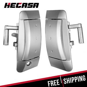 Pair Outside Outer Exterior Silver Door Handle Fits 03 09 Nissan 350z Left Right