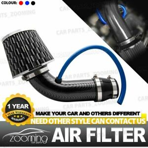 Carbon Fiber Universal Car Cold Air Intake Filter Induction Kit Pipe Hose Syst