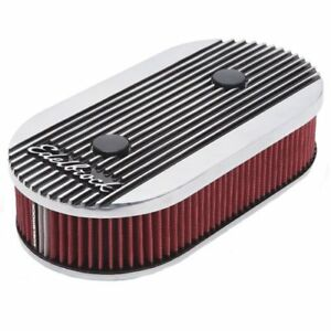 Edelbrock 4272 Elite Ii Series Air Cleaner For Dual quad Carburetors 2 5 Oval