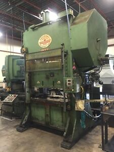 Federal Press S2 100 60 36 Straight Side Stamping Press 4 Stroke W load Monitor