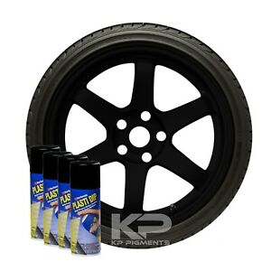 Performix Plasti Dip Black Wheel Rim Kit Spray Aerosol Cans 4 Pack 11oz