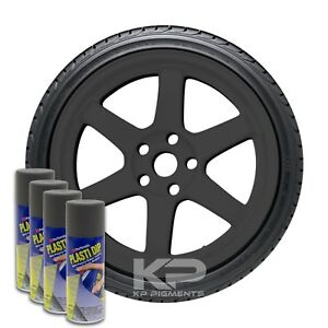 Plasti Dip Spray Aerosol Cans Wheel Rim Kit Gun Metal Grey 4 Pack 11oz