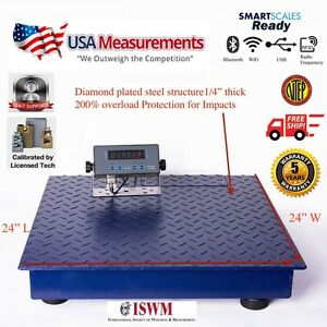 New Ntep 2500 Lb 0 5 Lb 2 x2 Heavy Duty Floor Scale Industrial Warehouse