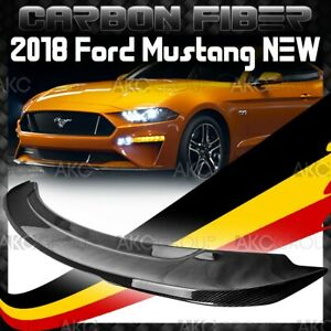 Glossy Real Carbon Fiber Rear Spoiler Wing Gt350 550 Style For 2018 Ford Mustang