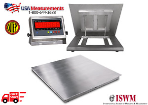 New Ntep 48 x48 Stainless Steel Floor Scale Indicator Wash Down 10 000 Lb