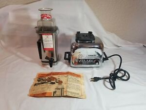 Vintage Vitamix Super 3600 Vita mix Stainless Steel Blender Bread Kneading