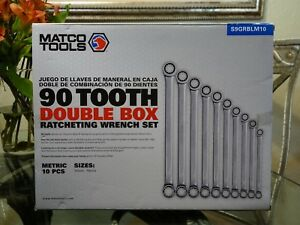 Matco 10pc 90 Tooth Double Box Ratcheting Metric Wrench Set S9grblm10 Wrenches
