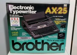 Brand New Brother Ax 25 Electronic Typewriter Daisy Wheel Correctable Sealed