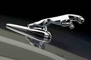 Chrome Metal Leaping Jaguar Bonnet Hood Badge Emblem Mascot For Xj Xf X S Type