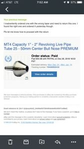 Mt4 Capacity 1 2 Revolving Live Pipe Tube 25 50mm Center Bull Nose Premium
