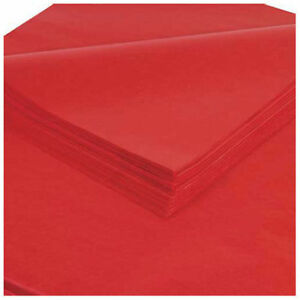 Tissue Paper 20 X 30 Madarin Red 480 Pack Lot Of 1