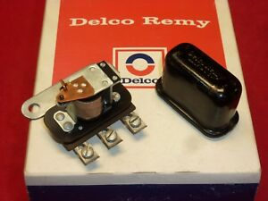 Nos Delco Remy 1955 56 Chevrolet And Corvette Horn Relay Made In Usa Logo 3 Hole