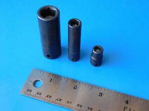 Used Snap On Cornwell Magnetic Sockets Lot Of Three See Description