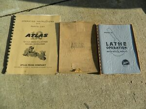 Atlas Lathe Manual Brand New Nos Hard To Find