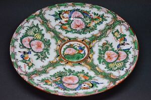 Antique Chinese Export Rose Medallion Plate 10 Inches