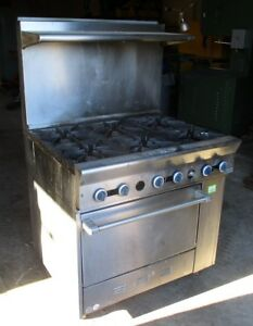 Garland Gas Range 6 Burners Stainless Stl With Shelf Used Local Pickup Only