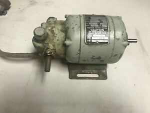 Vintage Bodine Electric Company Speed Reducer Motor Type Nsi 12r Tested Works