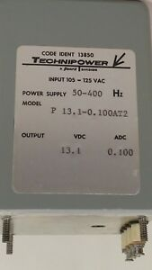 Technipower Power Supply P13 1 0 100at2 50 400 Hz 105 125 Vac 13 1 Dc 0 100adc