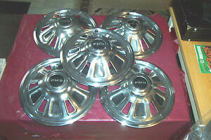 Oe Set Of 4 Plus Spare 14 Inch Wheelcovers 67 Tempest Lemans Gto 5008