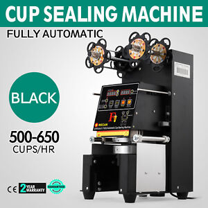 Electric Fully Automatic Cup Sealing Machine 500 650 Cups h For Bubble Milk Tea