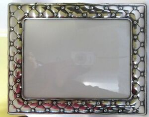 Big 12 Sterling Silver Picture Frame Modern Repousse 925 Fits 7 25x9 5 Easel