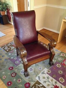 Antique Royal Easy Chair Push Button Recliner Prof Restored Morris Chair