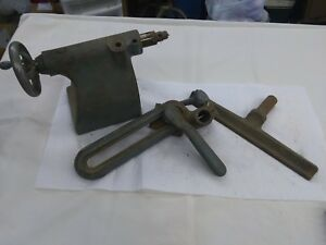 Lathe Parts Tail Stock Tool Rest And Holder Vintage Woodworking