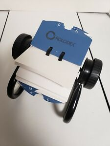 Rolodex Open Rotary Card File 500 2 1 4 X 4 Inch Cards 24 A Z Index Guide Black