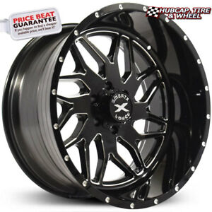 Xtreme Force Xf 2 Black Milled 22 x12 Custom Wheels Rims set Of 4 new
