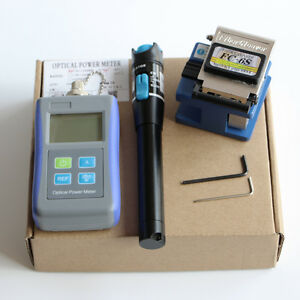 Optical Power Meter Fc 6s Fiber Cleaver 20mw Visual Fault Locator Ftth Tools Kit
