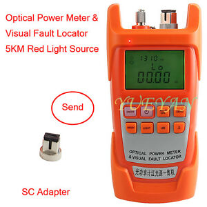 New All in one Fiber Optical Power Meter 1 5km 1mw Visual Fault Locator 2 In1