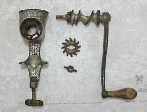 Antique C 1899 Lf C Universal No 1 Hand Crank Food Meat Grinder Chopper Usa