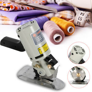 Electric Cloth Cutter 90mm Fabric Leather Cutting Machine Round Scissors Blade